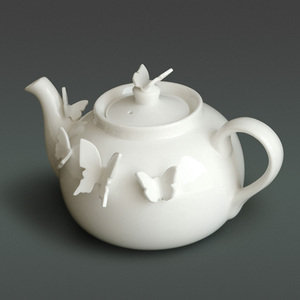 Luna &amp; Curious; Butterfly Teapot