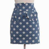 baily jo polka dot pencil skirt
