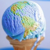 World Map Ice Cream | Cute Ice Cream | CutestFood.com