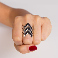 ZigZag Stacked Rings - 2020AVE