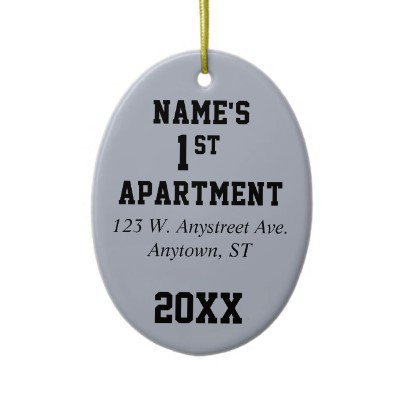 My first apartment house or condo from zazzle epic wishlist for First apartment ornament