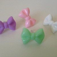 iPhone Earphone Dust Plug Bow in Pink