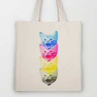 CMYKat Tote Bag by Alix M. Peck | Society6