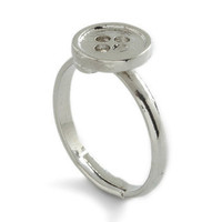 Ifs, Ands, or Button Ring | Mod Retro Vintage Rings | ModCloth.com