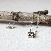 Antique Silver Zodiac Sign Necklaces