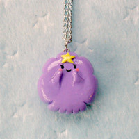 Lumpy Space Princess (LSP from Adventure Time) Chibi Charm Necklace. Oh My Glob :D