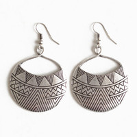 Aztec Sun God Earrings - $10.00: ThreadSence, Women&#x27;s Indie &amp; Bohemian Clothing, Dresses, &amp; Accessories