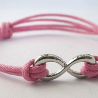 Pink Infinity Bracelet - Adjustable