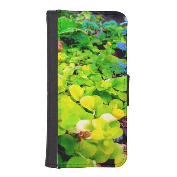 Green Leaves iPhone 5/5s Wallet Case
