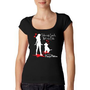 Pinups for Pitbulls / Ladies Scoop Neck Tee &quot;Take My Leash Not My Life&quot;