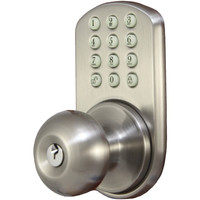 Morning Industry Inc Touchpad Electronic Door Knob (satin Nickel) - Morning Industry Inc Touchpad Electronic Door Knob (satin Nickel)