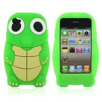 Amazon.com: Green Turtle Designs Silicone Case for Apple iPhone 4 / 4S+ Free Screen Protector and Charge USB Cable (1871-1): Cell Phones & Accessories