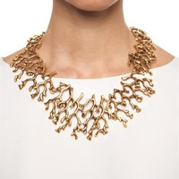 Coral-branch necklace