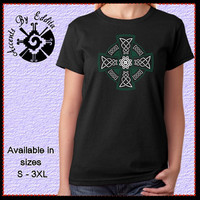 Celtic Cross Womens T Shirt or Tank in sizes S - 3XL with Rhinestone Accents your choice of color