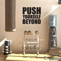Motivational Decal Push Yourself Beyond for Gym and Workout Space, Mirror, Closet or Dorm