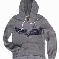 Womens MANATEE (in a canoe) Alternative Apparel Fleece Eco-Grey Pullover Hoody S M L (limited print run)