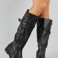 Madden-03 Buckle Riding Knee High Boot