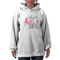 Fight Like A Girl Breast Cancer Awareness Pullover from Zazzle.com