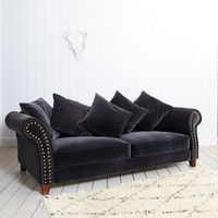 Melton 3.5 Seat Sofa in Velvet