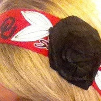 Oklahoma - Boomer Sooners - OU fabric flower headband, head wrap, collegiate