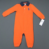 New With Tags Ralph Lauren POLO  Infant Boy's  One-Piece Classics  Size 6 M