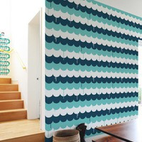 Blik Wall Decals: Scallops Pattern Wall Tiles by Jim Houser
