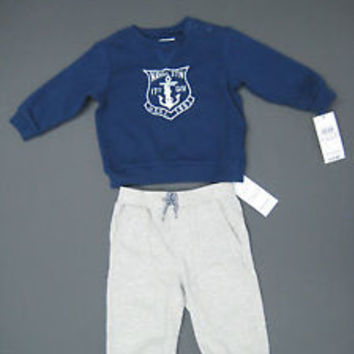 Ralph Lauren POLO Infant Boy's 2 Piece Sweater & Sweat Pants 9M / New With Tags