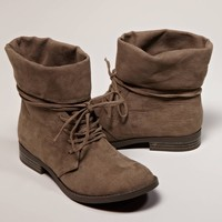 AEO Foldover Suede Bootie | American Eagle Outfitters