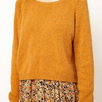 Ganni Angora Knit Jumper in Spice at asos.com