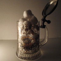 Vintage Gold Peacock Ornate Beer Stein Mug by TheVintageLacy