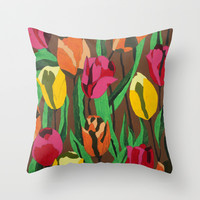 Tulips  Throw Pillow by Marjolein