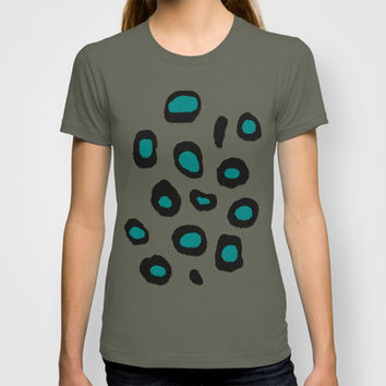 JuJu's Spots (teal) T-shirt by CrazyJane | Society6
