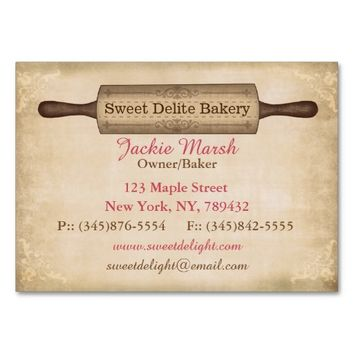 Vintage Bakery Business Card Template
