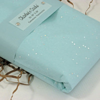 "Tissue Paper Sheets Gemstone Sparkle AquaMarine Lg 20"" X 30""  Qty 25"