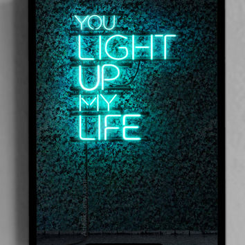 Valentines Day, Gifts for him, her, Romantic, Neon, Decor, Wall, Lights,INSTANT DOWNLOAD, Poster, iphone, ipad, Tablet, Quote, Background