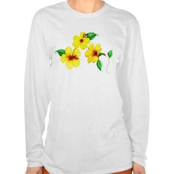 Flowers and Ladybugs Ladies Baby Doll T-Shirt