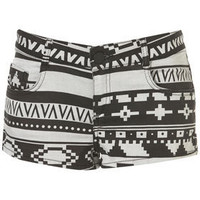 MOTO Aztec Hotpants - Shorts  - Clothing