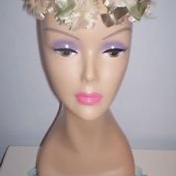 Cute Vintage Women's Millinery Pillbox Dress Hat Wired Frame Union Made Size 21