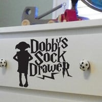 Dobby's Sock Drawer Dresser Decal