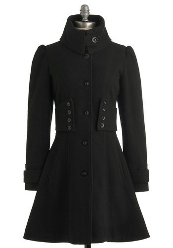 The Importance of Being Onyx Coat | Mod Retro Vintage Jackets | ModCloth.com