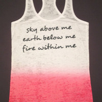 Fire within me- Ombre burnout workout tank