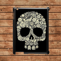 iPad 2 case,iPad hard case,iPad 2 cover,iPad case--Floral Skull,Sugar skull,in plastic case