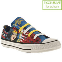 Women's Blue & Yellow Converse As Ox Iii Wonder Woman at Schuh
