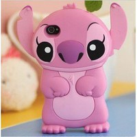 Pink iPhone Case Stitch Style 4G/4/4S Hard Case/Cover/Protector