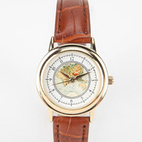Globe Watch- Brown One Size- Brown One