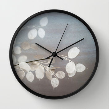 WHITE PAPER FLOWERS Wall Clock by Studio70