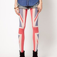 House of Holland For Pretty Polly Union Jack Tights at asos.com