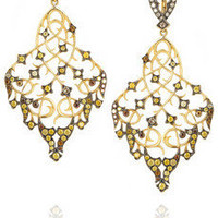 Loree Rodkin | Thorn & Leaf 18-karat gold diamond earrings  | NET-A-PORTER.COM