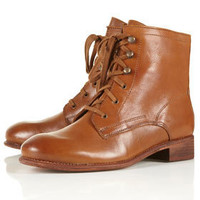 ANDREW Hobnail Lace Up Boots - Boots  - Shoes