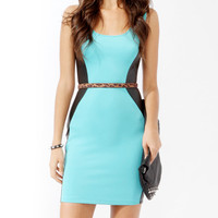 Coated Panel Sheath Dress